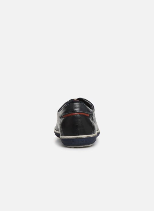 Zapatos con cordones Fluchos Pegaso 9710 Azul vista lateral derecha
