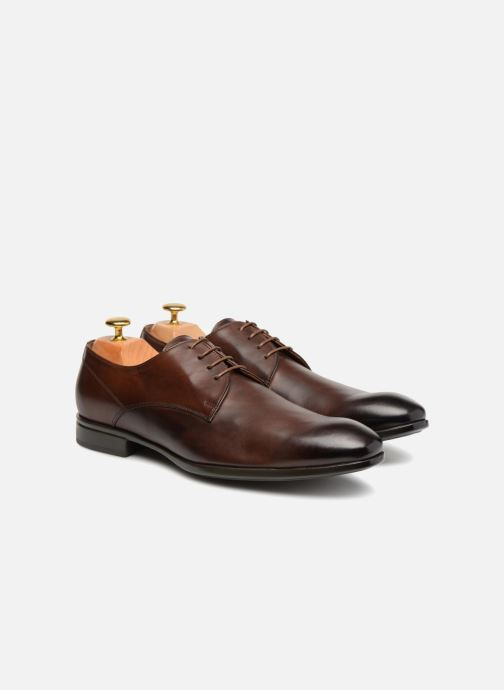 Lace-up shoes Doucal's OSCAR Vichy Brown 3/4 view