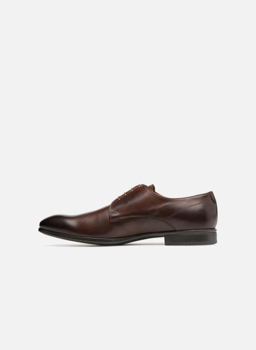 Lace-up shoes Doucal's OSCAR Vichy Brown front view