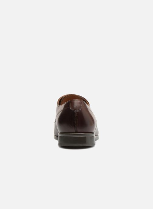 Lace-up shoes Doucal's OSCAR Vichy Brown view from the right