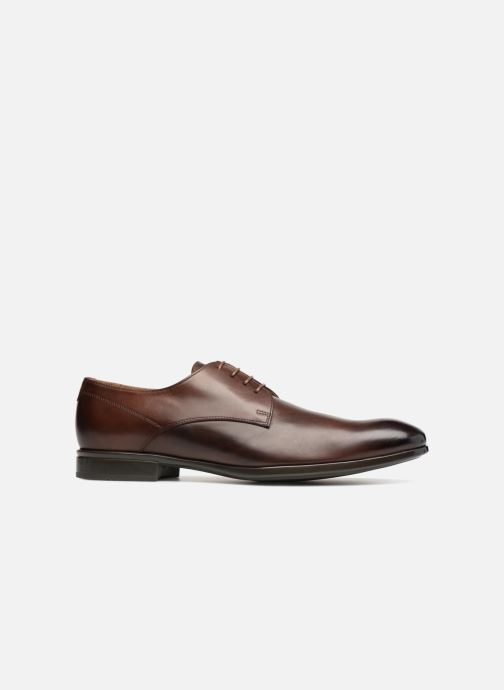 Lace-up shoes Doucal's OSCAR Vichy Brown back view
