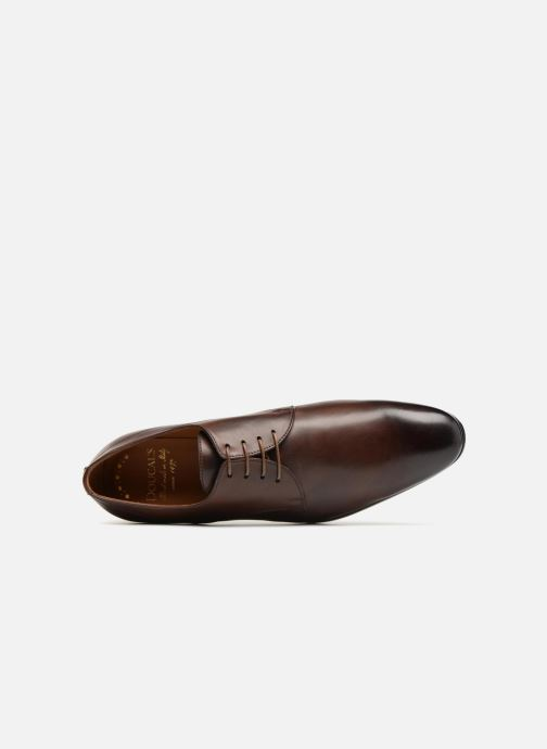 Lace-up shoes Doucal's OSCAR Vichy Brown view from the left