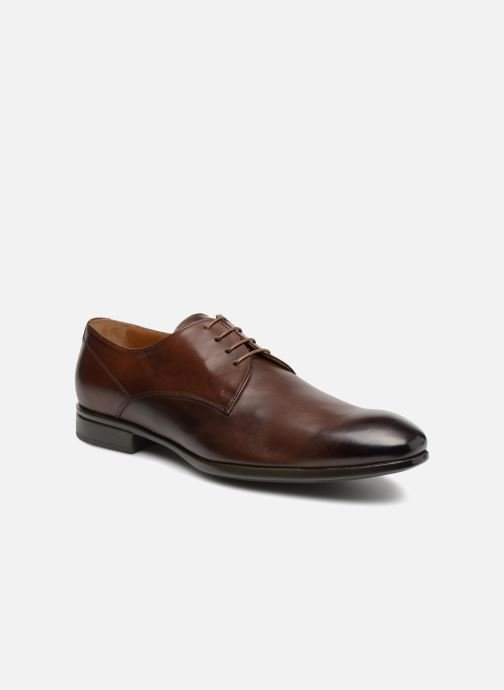 Lace-up shoes Doucal's OSCAR Vichy Brown detailed view/ Pair view