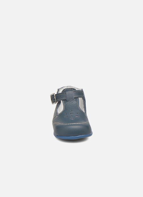 Stivaletti estivi Bopy Paimpol Azzurro modello indossato