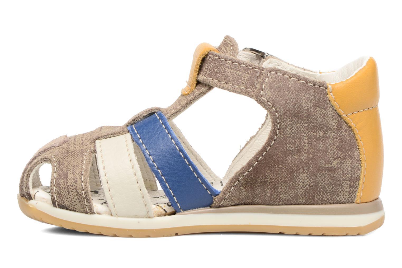 Sandals Bopy Zinedine Brown front view