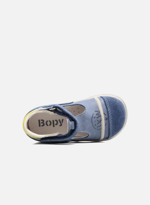 Botines de verano Bopy Zalisa Azul vista lateral izquierda