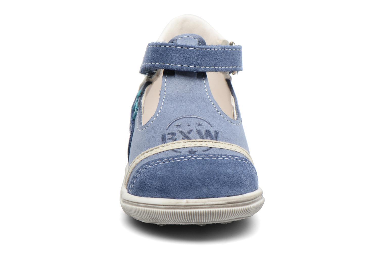Bottines d'été Bopy Zalisa Bleu vue portées chaussures