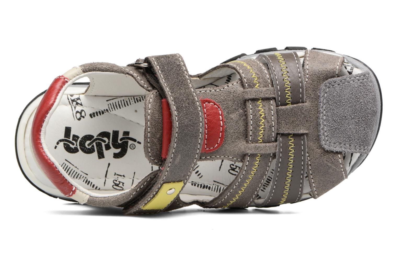 Sandalen Bopy Ebriac grau ansicht von links