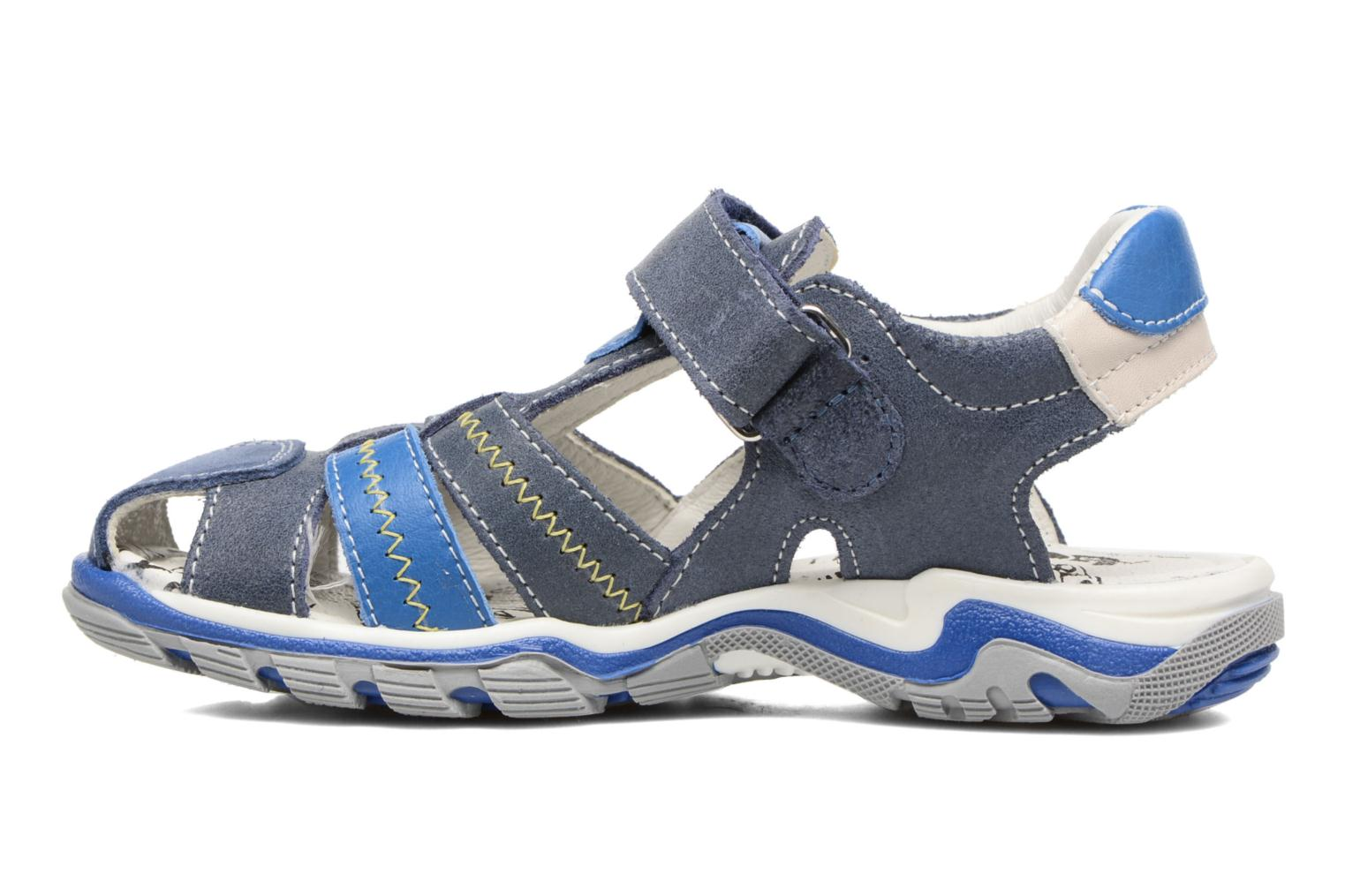 Sandals Bopy Ebriac Blue front view