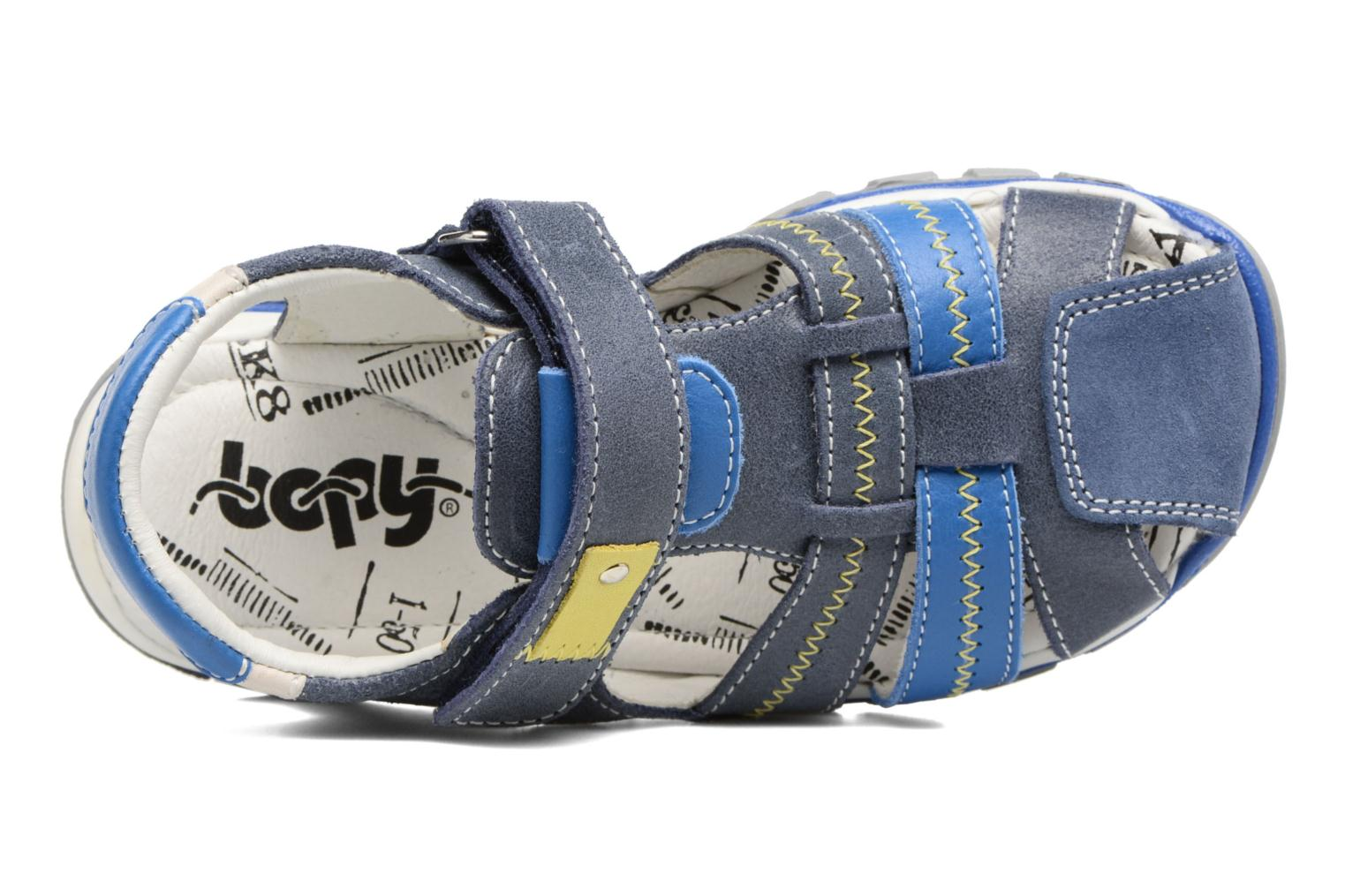 Sandals Bopy Ebriac Blue view from the left