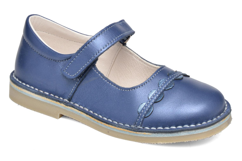 Ballerinaer Bopy Molina Blå detaljeret billede af skoene