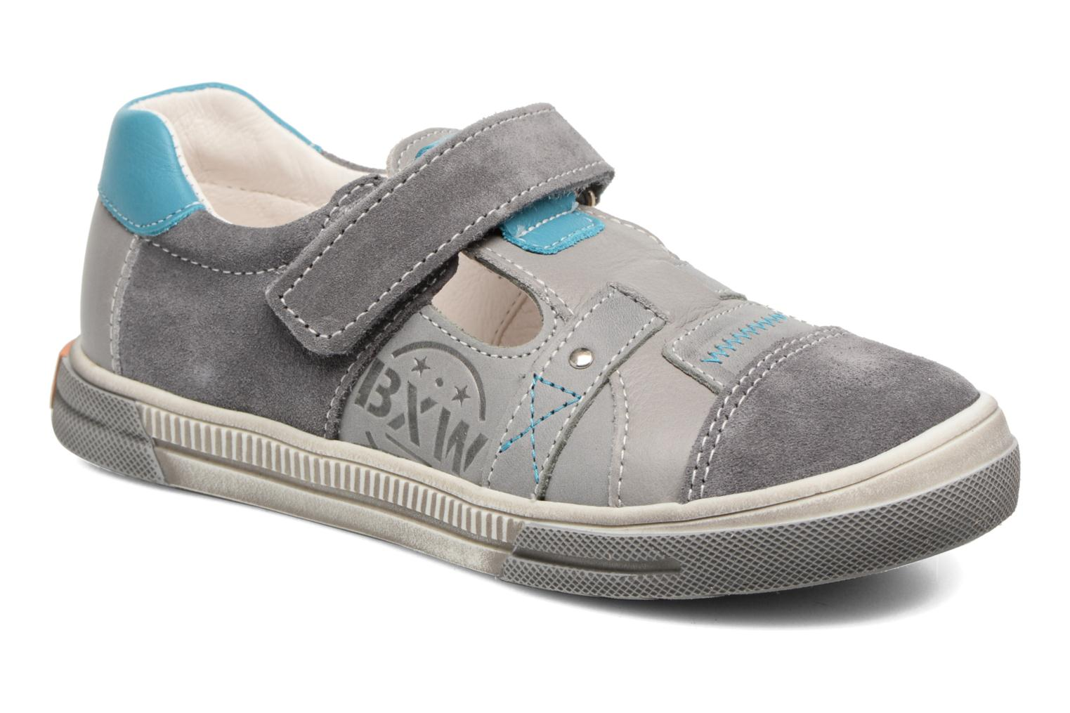 Velcro shoes Bopy Vadiso Grey detailed view/ Pair view
