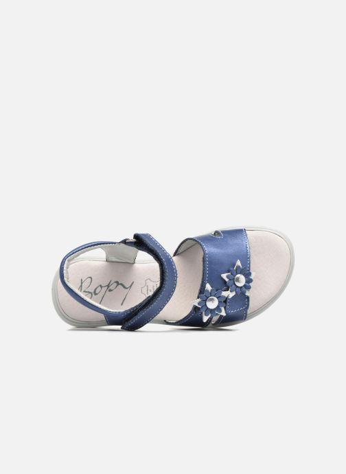Sandales et nu-pieds Bopy Elisco Bleu vue gauche