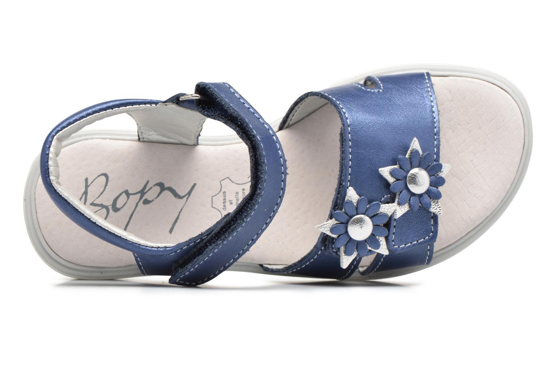 Sandalen Bopy Elisco Blauw links