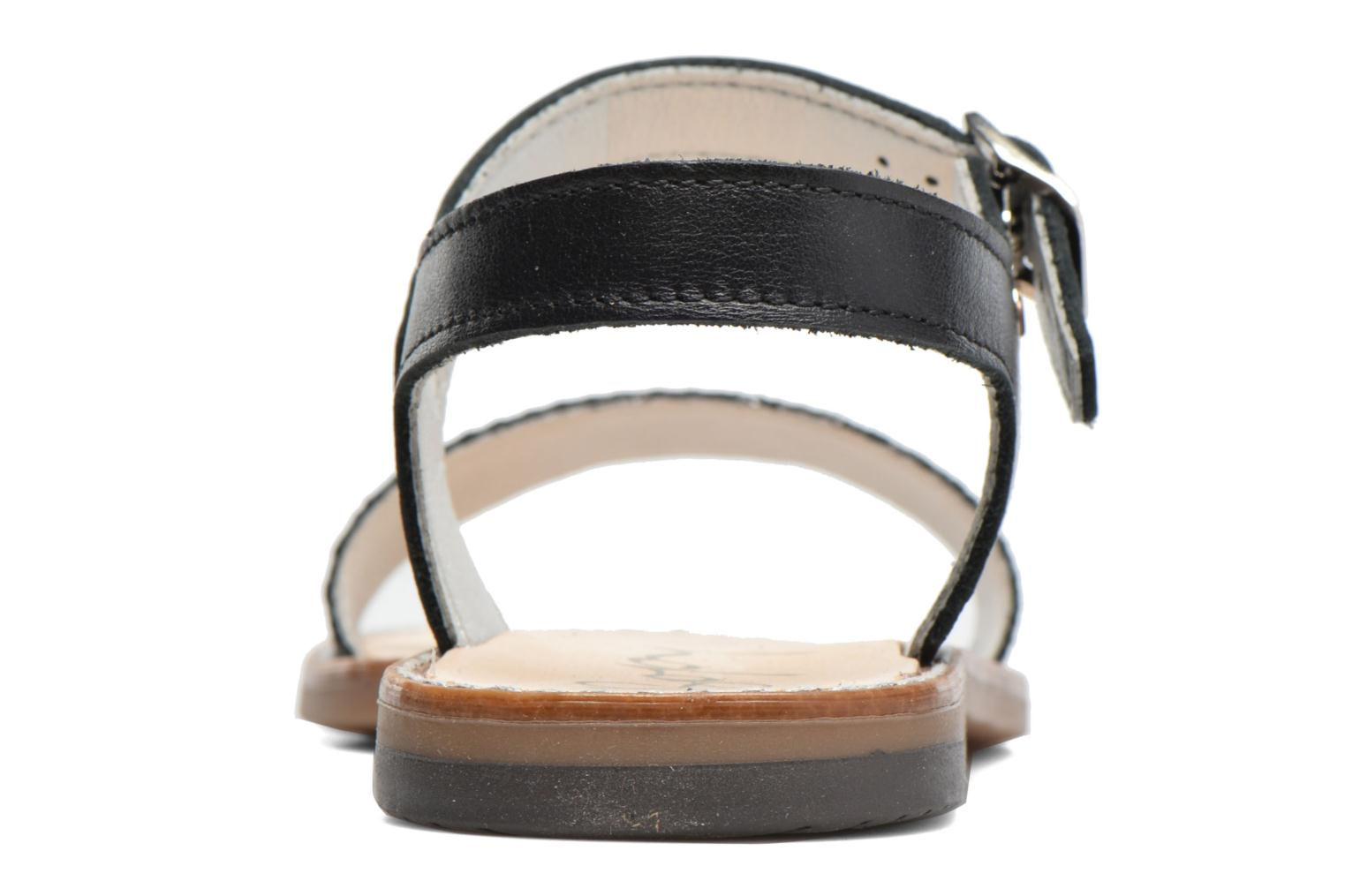 Sandals Bopy Epouf Black view from the right