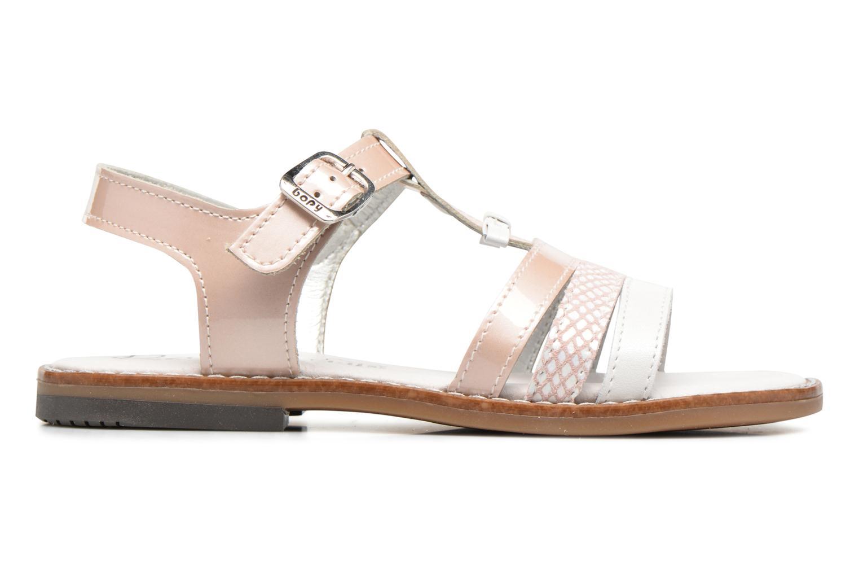 Sandales et nu-pieds Bopy Elvire Rose vue derrière