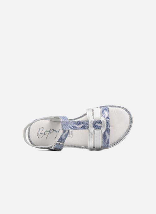 Sandales et nu-pieds Bopy Ernesta Argent vue gauche