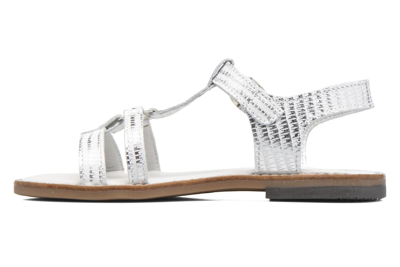 Sandales et nu-pieds Bopy Edelyne Argent vue face