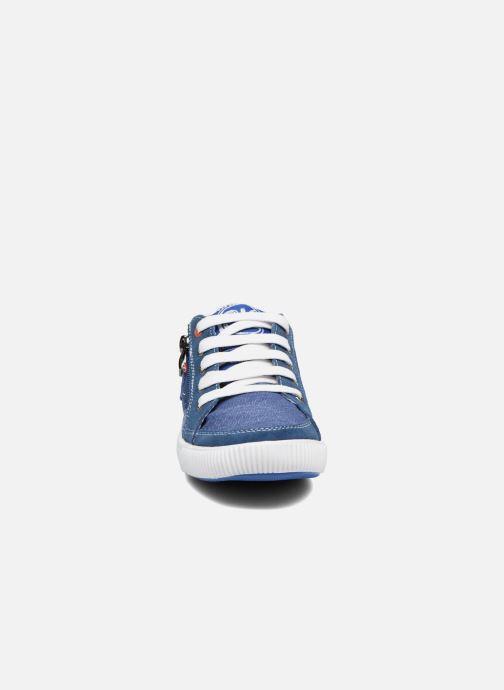 Baskets Bopy Nardoc Bleu vue portées chaussures