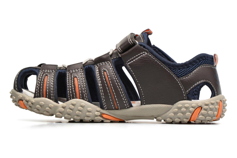 Sandales et nu-pieds Bopy Tupaco Marron vue face