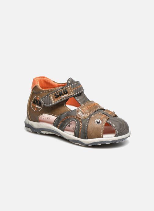 Sandales et nu-pieds Bopy Navela Kouki Marron vue détail/paire