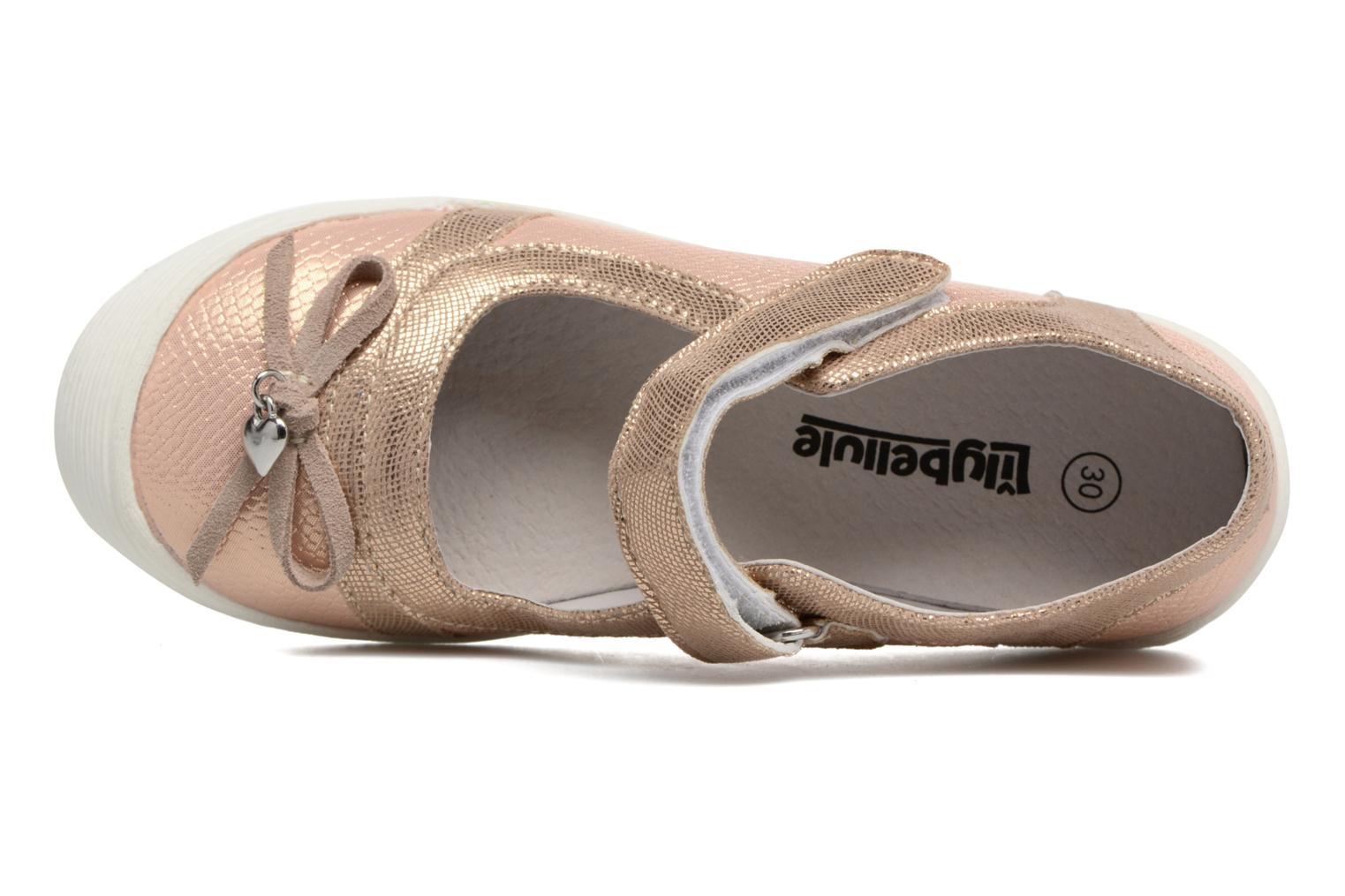 Ballet pumps Bopy Laurine Pink view from the left