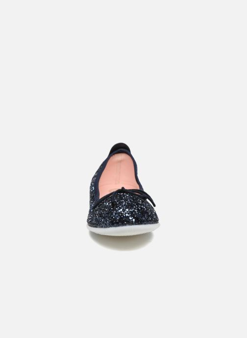 Ballerines Gioseppo Celinda Bleu vue portées chaussures