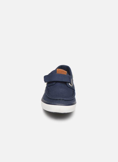 Mocassins Gioseppo Cowens Bleu vue portées chaussures