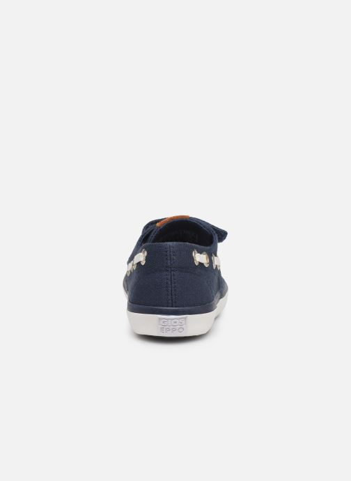 Loafers Gioseppo Cowens Blue view from the right
