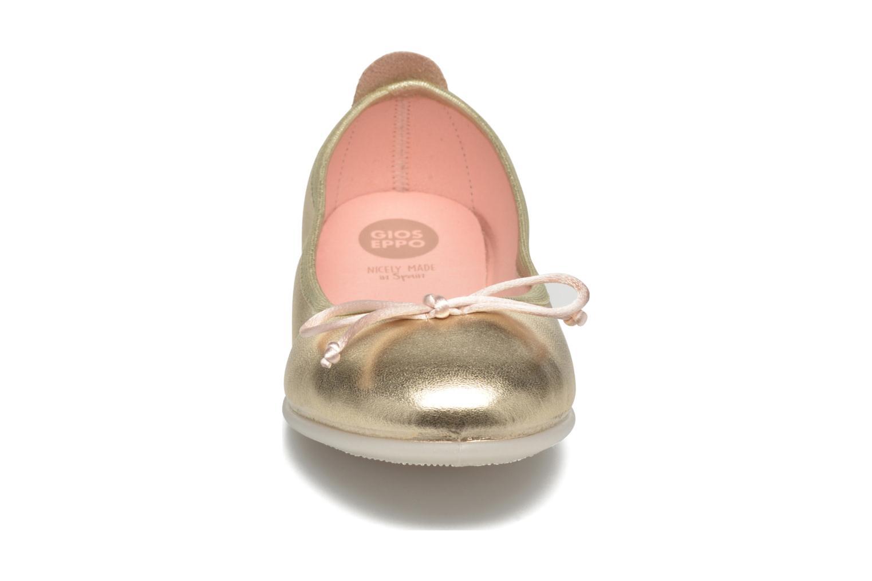 Ballerines Gioseppo Ainara Or et bronze vue portées chaussures