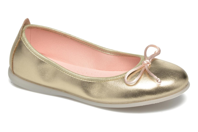Ballerines Gioseppo Ainara Or et bronze vue détail/paire