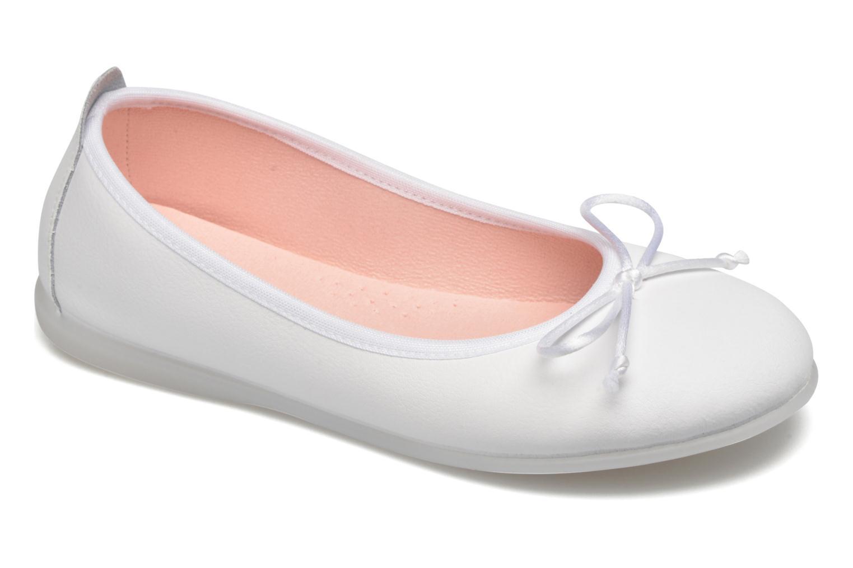 Ballet pumps Gioseppo Ainara White detailed view/ Pair view