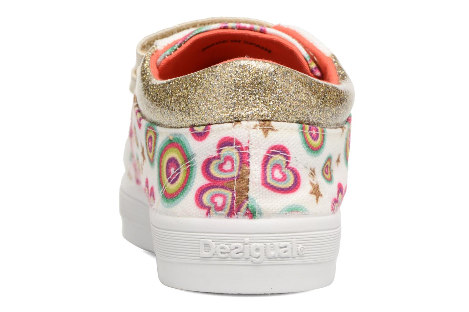 Trainers Desigual Silver Mini 2 White view from the right