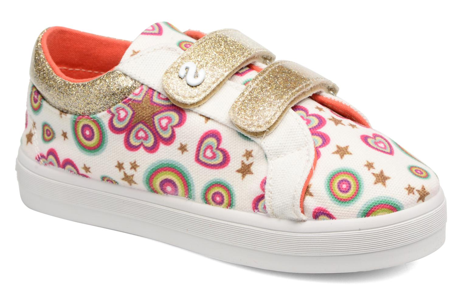 Trainers Desigual Silver Mini 2 White detailed view/ Pair view