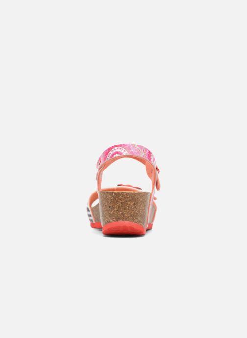 Sandalen Desigual Strips Wedge rosa ansicht von rechts