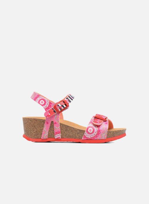 Sandalen Desigual Strips Wedge rosa ansicht von hinten