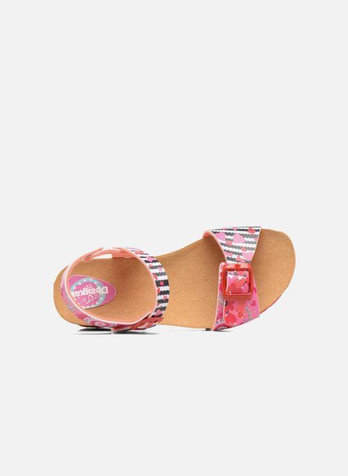 Sandalen Desigual Strips Wedge rosa ansicht von links