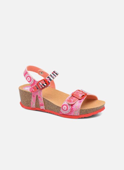 Sandales et nu-pieds Desigual Strips Wedge Rose vue détail/paire