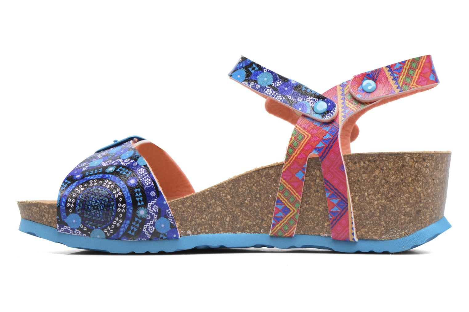 Sandals Desigual Strips Wedge Multicolor front view