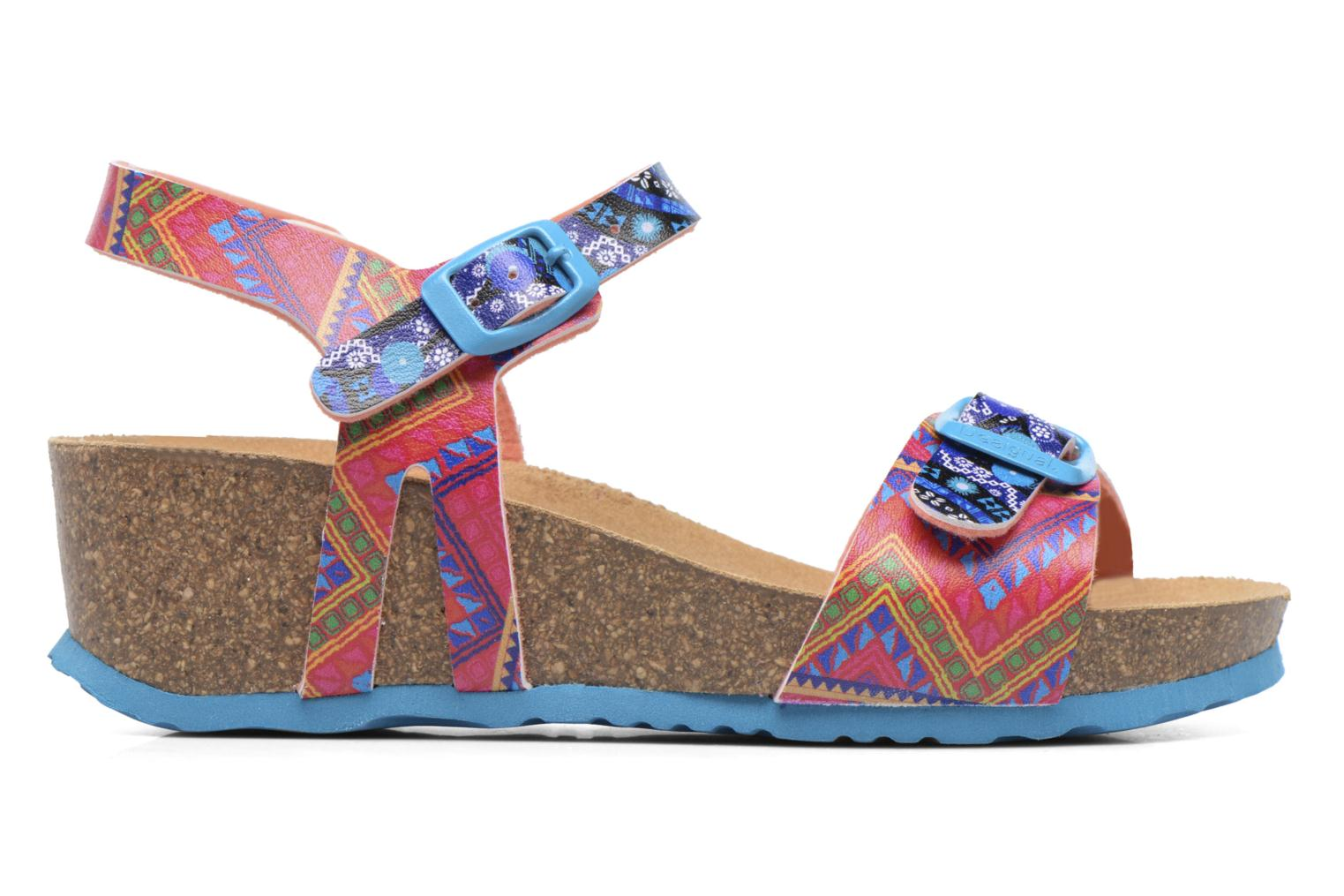 Sandals Desigual Strips Wedge Multicolor back view