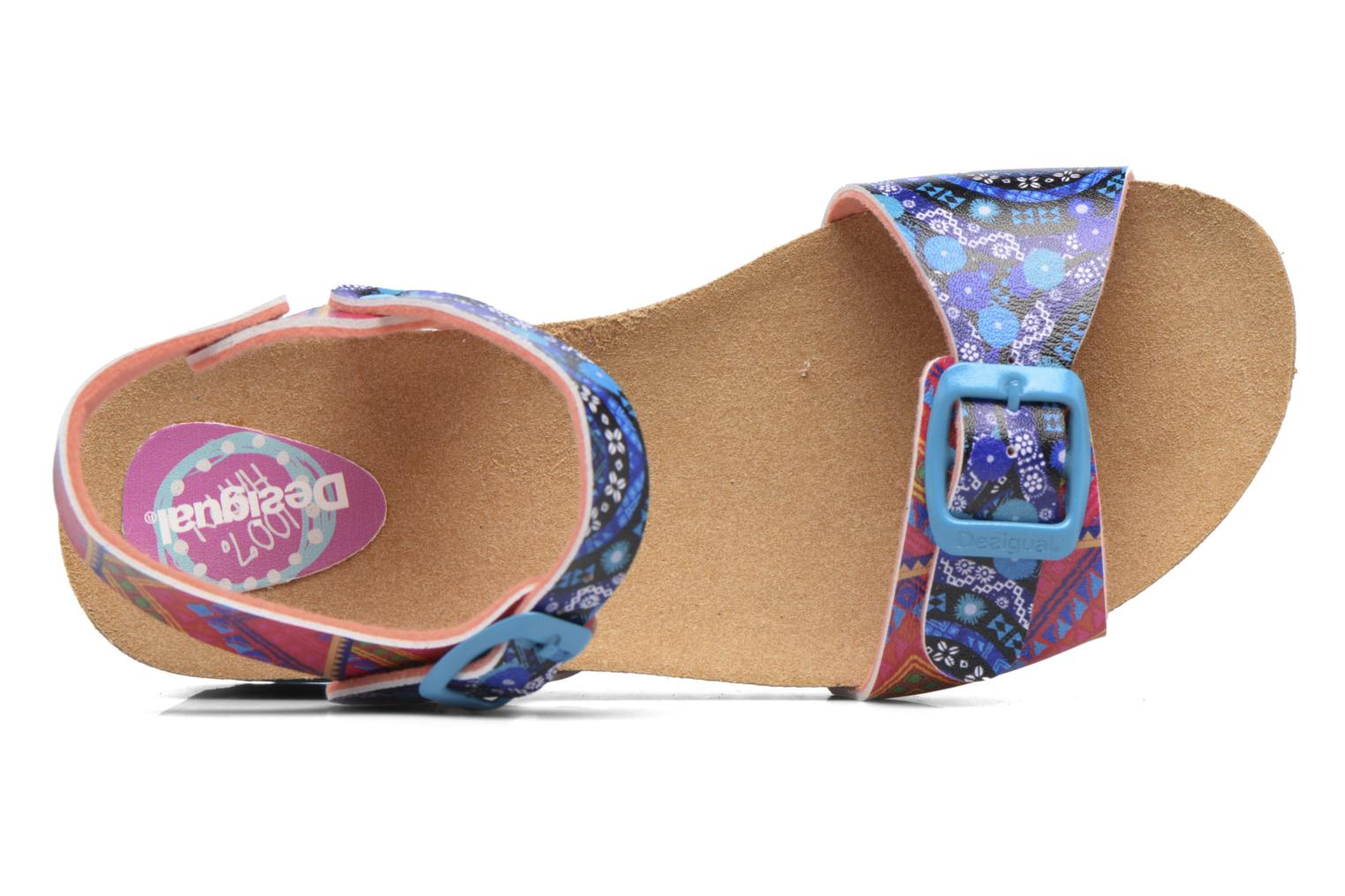 Sandals Desigual Strips Wedge Multicolor view from the left