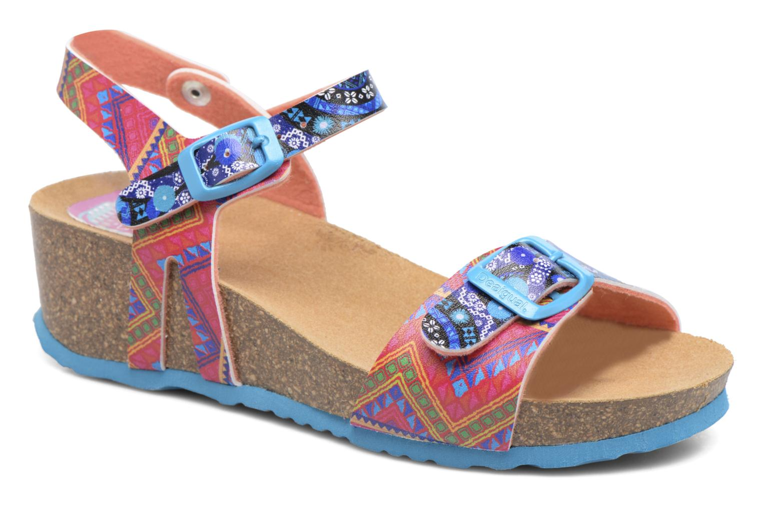 Sandals Desigual Strips Wedge Multicolor detailed view/ Pair view