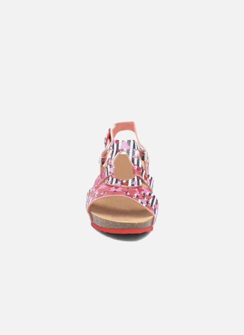 Sandalen Desigual Wedge Bio rosa schuhe getragen