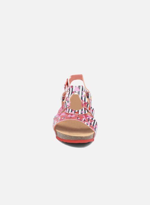 Sandales et nu-pieds Desigual Wedge Bio Rose vue portées chaussures