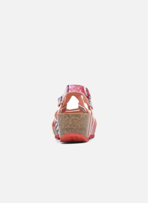 Sandalen Desigual Wedge Bio rosa ansicht von rechts