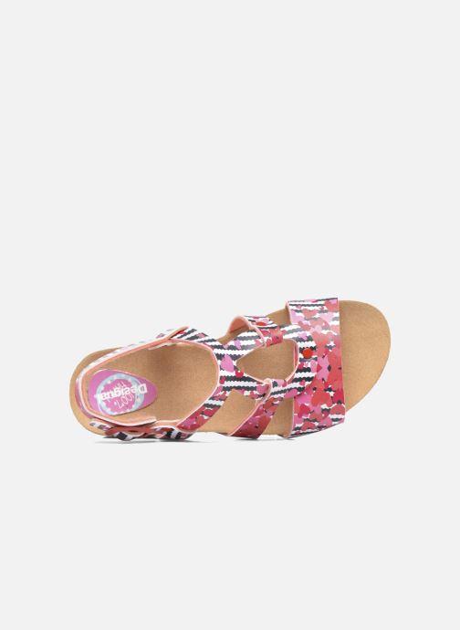 Sandales et nu-pieds Desigual Wedge Bio Rose vue gauche