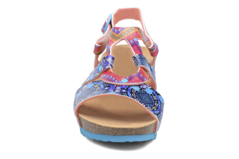 Sandales et nu-pieds Desigual Wedge Bio Multicolore vue portées chaussures