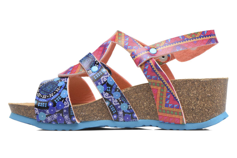 Sandales et nu-pieds Desigual Wedge Bio Multicolore vue face