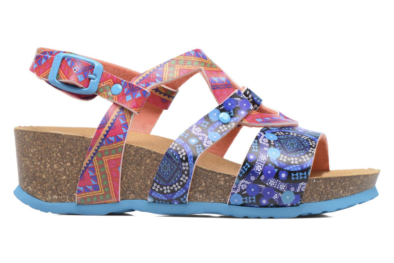 Sandales et nu-pieds Desigual Wedge Bio Multicolore vue derrière