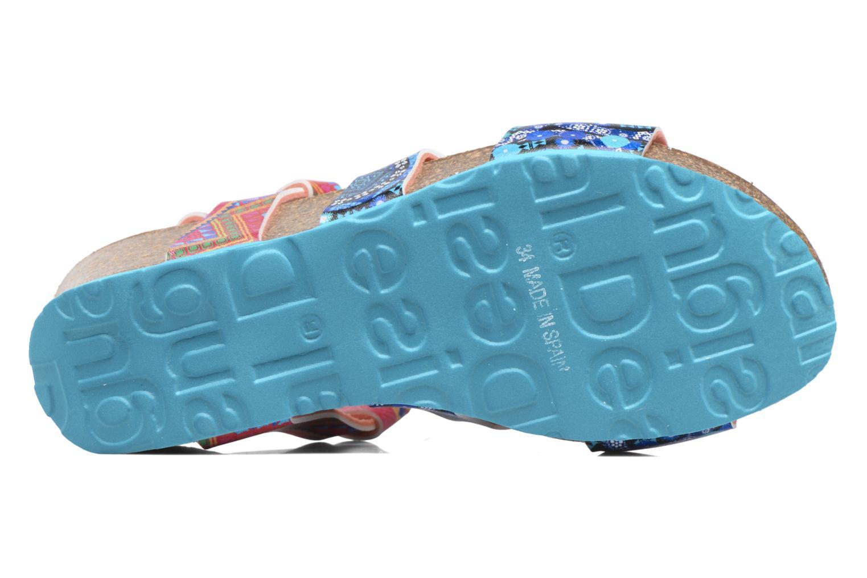 Sandales et nu-pieds Desigual Wedge Bio Multicolore vue haut